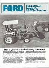 Original OE Ford 7209Q Quick Attach Loader Specifications Sales Brochure AD-2670