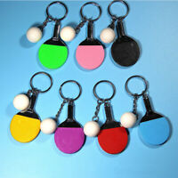 Fashion  Gym keychain Rracket Ping Pong Table Tennis Keyring Gifts Pendant