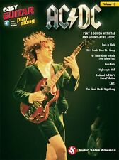 AC/DC EASY GUITAR PLAY-ALONG GUITAR TAB SHEET MUSIC SONG BOOK