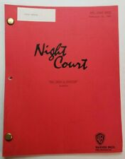 """NIGHT COURT / Fred Rubin 1991 TV Script, Harry Anderson """"Mac Takes a Vocation"""""""