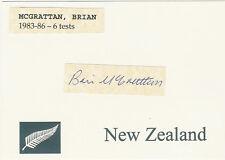 Brian McGrattan NZ ALL BLACK SIGNED RUGBY CARD