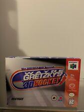 Wayne Gretzky's 3D Hockey Nintendo 64 with original box Brand new never used N64