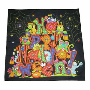 """Table Topper/ Wall hanging Happy Halloween  29x29"""" Handmade Quilted #428"""