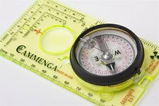 CAMMENGA Destinate Tritium Protractor Compass with MAP MAGNIFYING LENS D3T GLOW