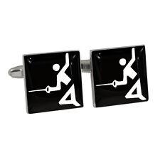 Fencing Olympic Sign Cufflinks Gift Boxed fencer foil sabre épée sword Symbol BN
