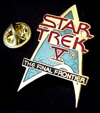STAR TREK V THE FINAL FRONTIER LICENSED 1989 P.P.C MADE IN TAIWAN ENAMEL PIN