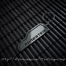 Subaru Forester Without Spoiler Stainless Steel Keychain