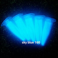 SB160M 50g HIMMEL BLAU Pigment f.  leucht Nacht UV Phosphor Uhr Zeiger Lack Harz