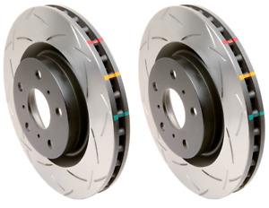 DBA Rear 4000 Slotted Brake Rotors (Pair) For Chevy 11-15 Camaro SS / 09-14 CTS-
