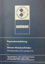 Reparaturanleitung Reparaturbuch Schwalbe KR 51/2 und SIMSON S 51 IFA blau