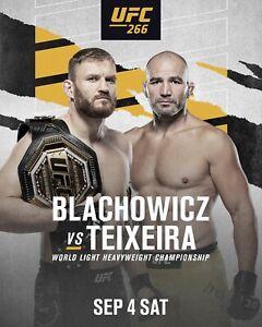 UFC 266 Jan Błachowicz vs Glover Teixeira Poster 11x17 16x24 24x36