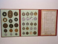 JAPAN-COIN COLLECTION #1 1800's-1900's 32 Coins in Red Folder - US SHIPPING ONLY