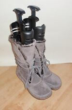 NEW Clarks womens NETTLE JUICE taupe suede wrap around boots size 8 D EU 42