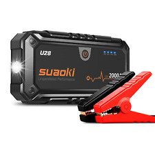 SUAOKI U28 Jump Starter 2000A 15900mAh with Dual USB LED Torch Jump Leads for