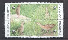 Moldova 2001 Birds WWF 4 MNH stamps