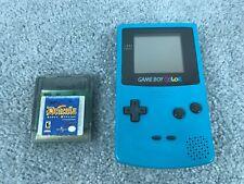 Nintendo Game Boy Color Handheld System Teal WORKS Dracula Crazy Vampire Game