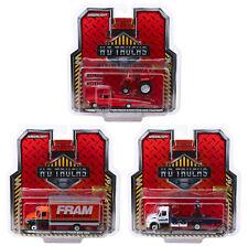 HEAVY DUTY H.D. TRUCKS 3 PC SET SERIES 16 1/64 DIECAST BY GREENLIGHT 33160 A B C