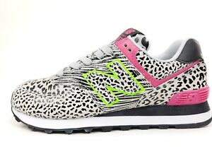 New Balance 574 Womens Animal Print Casual Trainers Size 8 M