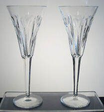 "LOVE WATERFORD MILLENNIUM COLLECTION champagne flutes 9 1/4"" PAIR, with box"