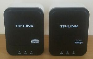 2x TP-LINK 85Mbps Powerline Ethernet Adapter TL-PA101