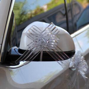 100X Pull Bows Organza Ribbon Wedding Party Car Florist Gift Wrap Decor Striped