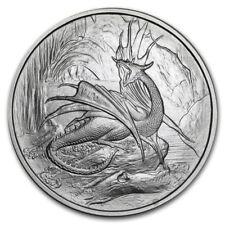1~OZ .999 SILVER BU GEM ~ NORDIC  DRAGON ~ NIDHOGGR ~ NUMBERED ~ COA ~ $9.99 BID