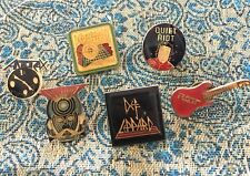 Vintage 80s Lapel Pin Lot- Anthrax/Ratt/DefLeppard/Q uietRiot/Journey