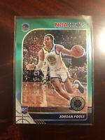 2019-20 NBA Hoops Premium Stock JORDAN POOLE🔥GREEN PRIZM Rookie RC🔥PACK FRESH