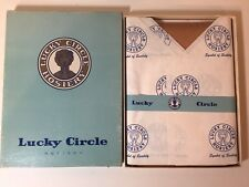 """LUCKY CIRCLE BLACK SEAMED CUBAN HEELS Vintage Bisque Beige Nylon Stockings 9"""""""