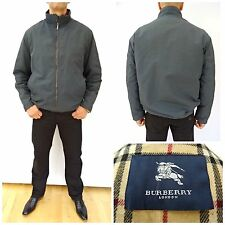BURBERRY London GREY BOMBER HARRINGTON Nova Wool Lined Jacket SIZE 5 XL (1496)
