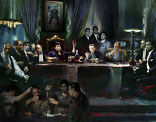 Scarface, Al Pacino, Sopranos,Goodfellas, Godfather, Last Supper, Canvas by Star