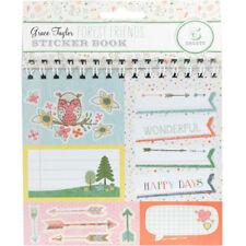 Grant Studios Grace Taylor Forest Friends - Stickers Flip Book 5 Shts inc Alpha