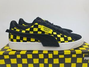 """Puma Suede x CHINATOWN MARKET """"Black Yellow"""" New (5 US) Collab Limited Basket"""