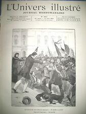 CORSE AJACCIO ELECTIONS HOTEL DE VILLE P. SECCHI ET MANIFESTANTS GRAVURES 1892