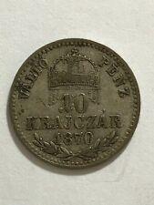 HUNGARY 10 KRAJCZAR 1870 GYF KM#451.2