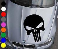 WD Autoaufkleber THE PUNISHER TOTENKOPF Aufkleber Motorhaube Sticker Schädel