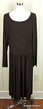 Talbots 20 Brown Stretch Knit Pull Over Comfy Career Weekend Dress