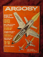 ARGOSY September 1960 Alfred Hitchcock F-105 Thunderchief Jack Dempsey