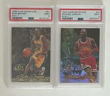 1996 Flair Showcase Row 1 Kobe Bryant and Michael Jordan Lot - PSA 9 MINT