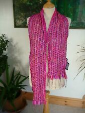 PASSIGATTI Italy Silk Ribbon Weave Scarf