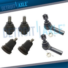 Upper Lower Ball Joints + Outer Tie Rod for 1998 1999 2000 Frontier 4WD 2.4L L4