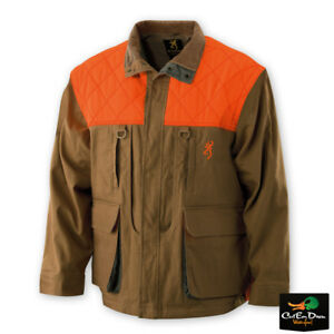 NEW BROWNING PHEASANTS FOREVER JACKET WITH EMBROIDERED LOGO BLAZE BROWN CANVAS