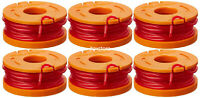 6 Pack WORX WA0010 Spools Line for Worx GT Cordless Trimmer Edger Spools