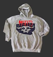 MISFITS METAL ROCK SWEATSHIRT unisex grey hoodie JUMPER S-3XL