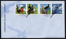 2010 Christmas Island Frigatebird WWF FDC First Day Cover Stamps Australia