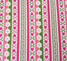 Circa BTY Jennifer Paganelli FreeSpirit Floral Daisy Stripe Pink Green Lavender