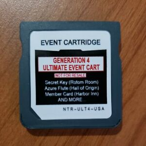 Pokemon Nintendo DS Distribution 120+ Events - *Ultimate Gen 4 Event Cartridge*