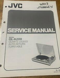 JVC QL-A200 QUARTZ LOCKED AUTO-RETURN TURNTABLE ORIGINAL SERVICE REPAIR MANUAL