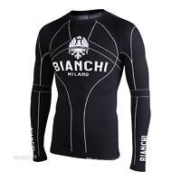 Bianchi Milano VERANO Long Sleeve Seamless Winter Cycling Base Layer : BLACK