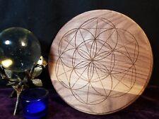 Hexagonal Flower Crystal Grid - Walnut